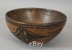 Antique 19thC Santo Domingo Pueblo Native American Indian Pottery Bowl, NR