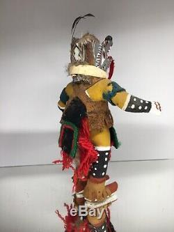 Antique 20th C. Native American Hopi Kweo Wolf Kachina Katsina Doll Hand Carved