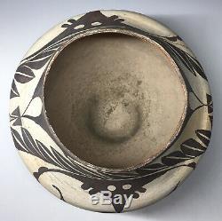 Antique Acoma Native American Pueblo Pottery Olla Polychrome Geometric