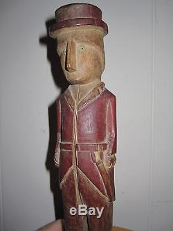 Antique Central Native American Panama Kuna Wood Carved Spirit Doll Machete