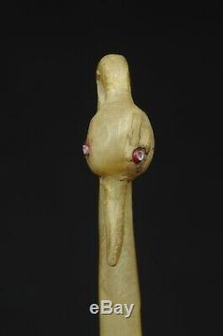 Antique Ceremonial Beaded Spoon Ladle w. Bird head- Lakota Sioux 19th century