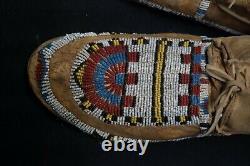 Antique Cheyenne Beaded Boy Mocassins Native American