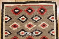Antique Circa 1900 Native American Indian Western Wool Rug, NR
