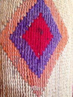 Antique Circa 1900 Nez Perce Native American Corn Husk Bag 21 X 16 Gorgeous
