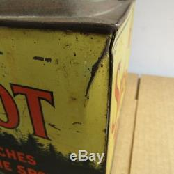 Antique Country Store Sure Shot Counter Top Tobacco Tin Indian Native American