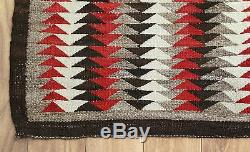 Antique Early 20thC Western Navajo American Indian Hand Woven Wool Rug, NR