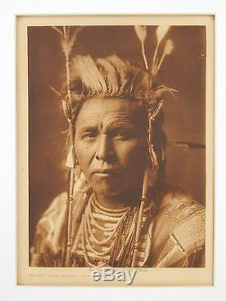 Antique Edward Curtis Native American Indian Photogravure on Tissue Photo c. 1908
