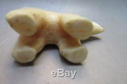 Antique Eskimo Inuit Artifact. Fossil Antler Bone. Bering strait