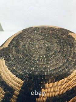 Antique Fantastic Pima Papago Native American Indian Tray Basket