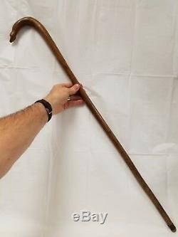 Antique Folk Art Native American Indian Stylized Snake Cane Walking Stick