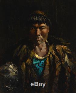 Antique H. G. Kaiser Eskimo Native American Indian Alaska Photo Eustace Ziegler