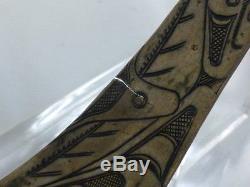 Antique Haida Engraved Coin Silver Spoon Wasco, Killer Whale, and Raven