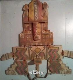 Antique Hopi Tableta Kachina Dance Headdress Native American Indian 29x29 1900
