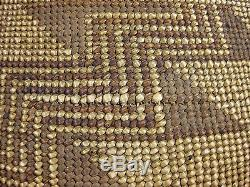 Antique Hupa Indian Northern California Large Geometric Chevron Design Basket