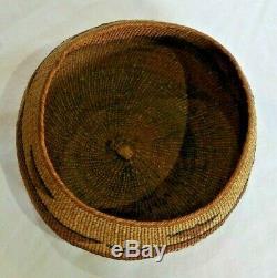 Antique Hupa Native American Indian Basket 4 High