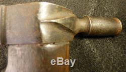 Antique Huron Indian Pipe Tomahawk Forged Spontoon Head Ash Haft Great Lakes1860