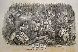 Antique INDIAN WARS Native American 1850 MASSACRES Captivities TORTURE Old West