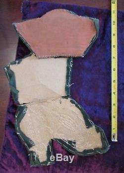 Antique IROQUOIS RAISED BEADWORK VICTORIAN BOOT large 10 rare squirrels motif