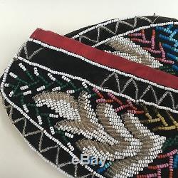 Antique Iroquois Indian Beadwork Glengarry
