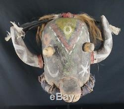 Antique Kachina HELMET HOPI Ho-ote type (Ahote) Native American