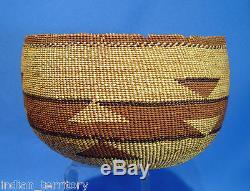 Antique Karok Indian Basket c. 1910