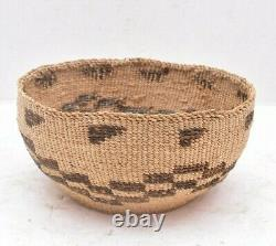 Antique Klamath / Modoc Woven Basket Native American Northwest Northern CA VTG