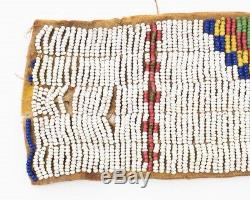 Antique Lakota Sioux Plains Beaded Hide Strip 28 x 2.5 Native American Indian
