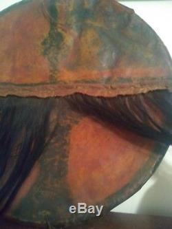 Antique Late 1800's Native American Indian Parfleche Rawhide Dance Battle Shield