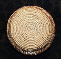 Antique Maidu Northern California Native American Indian Basket 5 1/2d x 2 3/4