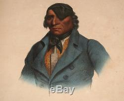 Antique Mckenney & Hall Print Indian Native American Waa-pa-shaw Sioux Chief