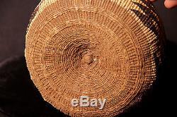 Antique N. California Atsugewi Indian (Hat Creek) Basketry Bowl, Diamond Motifs