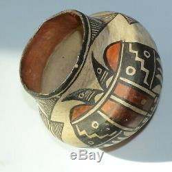 Antique Native American Acoma Pueblo Pottery Jar With Provenance Early 1900s