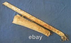 Antique Native American Apache Hide Bow Case & Quiver Sinew Sewn Late 1800's