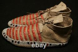 Antique Native American Child Mocassins Sioux Lakota