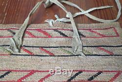Antique Native American Corn Husk Flat Bag Plateau Nez Perce C 1880