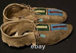 Antique Native American Crow Mocassins
