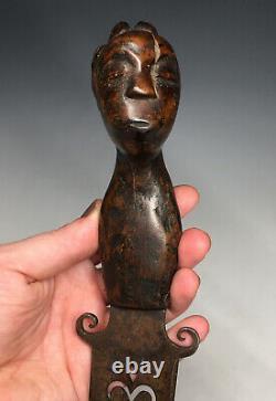 Antique Native American Figural Human Effigy Carved Handle Dag Knife