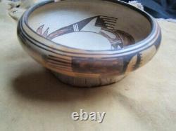 Antique Native American Hopi Pottery Bowl Nampeyo Sityaki Native American