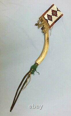 Antique Native American Horsewhip with beadwork Blackfoot 1880 ca