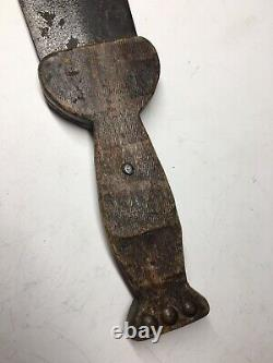 Antique Native American Hudson Bay Company Beavertail Paddle Dag Knife