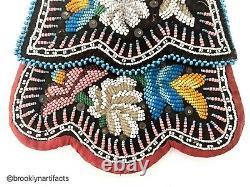 Antique Native American Indian Art Haudenosaunee Beaded Purse