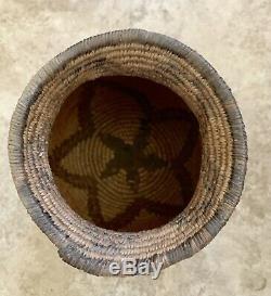 Antique Native American Indian Basket Planter