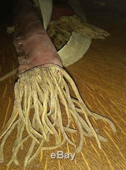 Antique Native American Indian Buckskin Parfleche Bow Case Arrow Quiver Set