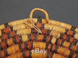 Antique Native American Indian Hopi Basket Wedding Ceremonial Tray Pueblo