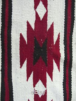 Antique Native American Indian Navajo Woven Eyedazzler Saddle Blanket Rug NR yqz