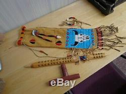 Antique Native American Indian Peace Pipe