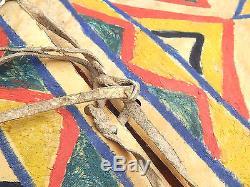 Antique Native American Indian Sioux Crow Plains Plateau Painted Parfleche Bag