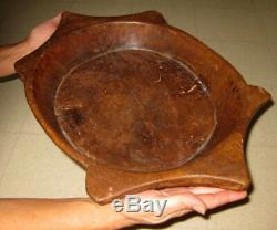 Antique Native American Indian Turtle Effigy Wooden Ceremonial Feast Grease Bowl