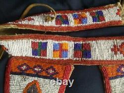 Antique Native American Nez Perce Beaded Belt 1890