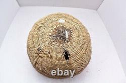 Antique Native American Northern California Indian Pomo Bamtush Storage Basket